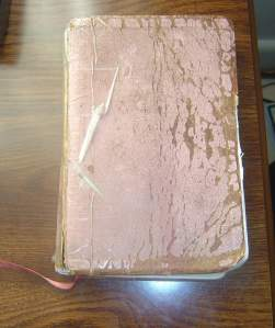 My love-worn Bible