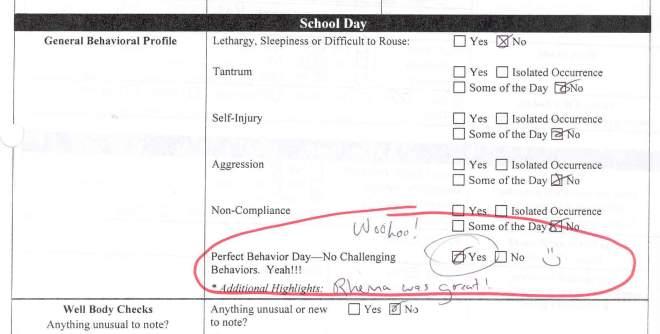 Perfect Behavior Day!