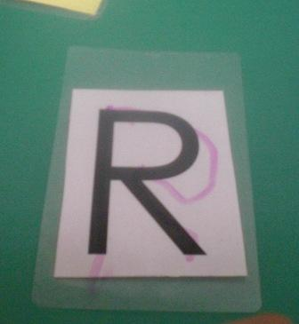 "Rhema's first independently traced ""R"""