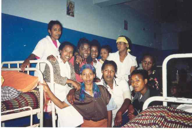 Missionaries of Charity, Addis, 1995. I am third from the left, back row.