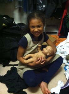 Hope and Alana. (My closet is dirty because Alana made such a mess in there).